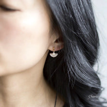 Load image into Gallery viewer, Candace CZ Diamond Fan Earrings