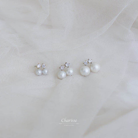 Clara Japanese Marshmallow Pearl Earrings