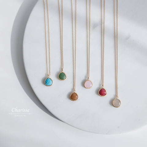 Claire Japanese Colourful Natural Stone Necklace