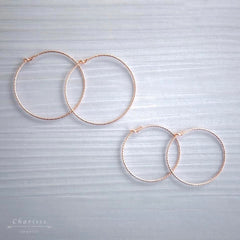 Elva Carved Hoop Earrings