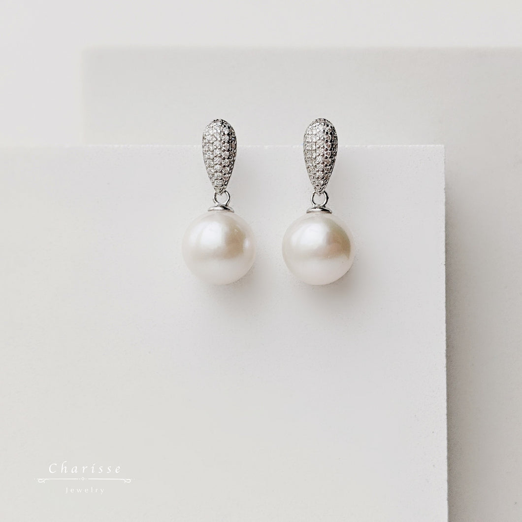 Christina Japanese Saltwater Pearl Earrings