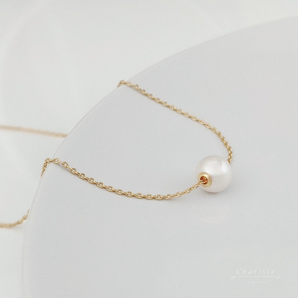 Jastina Japanese Saltwater Pearl Necklace