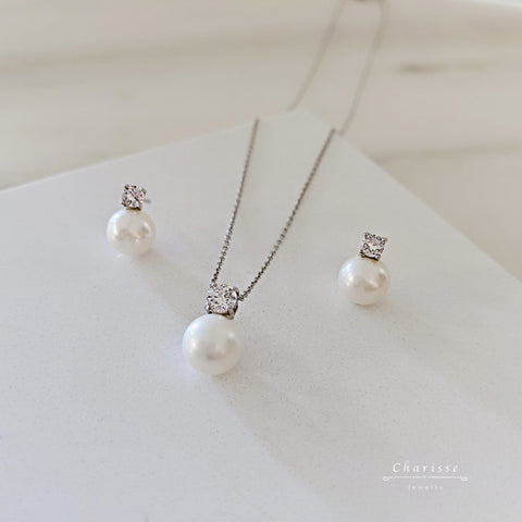 Princess Diana Style Japanese Freshwater Pearl Set