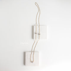 Anna Swarovski Cream Crystal Pearl Long Necklace