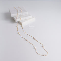 Sadie Japanese Freshwater Pearl Long Necklace