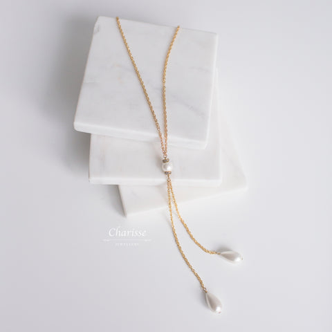 Charlize Japanese Marshmallow Pearls Necklace