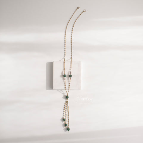 Naomi Jade & Japanese Freshwater  Pearl Necklace