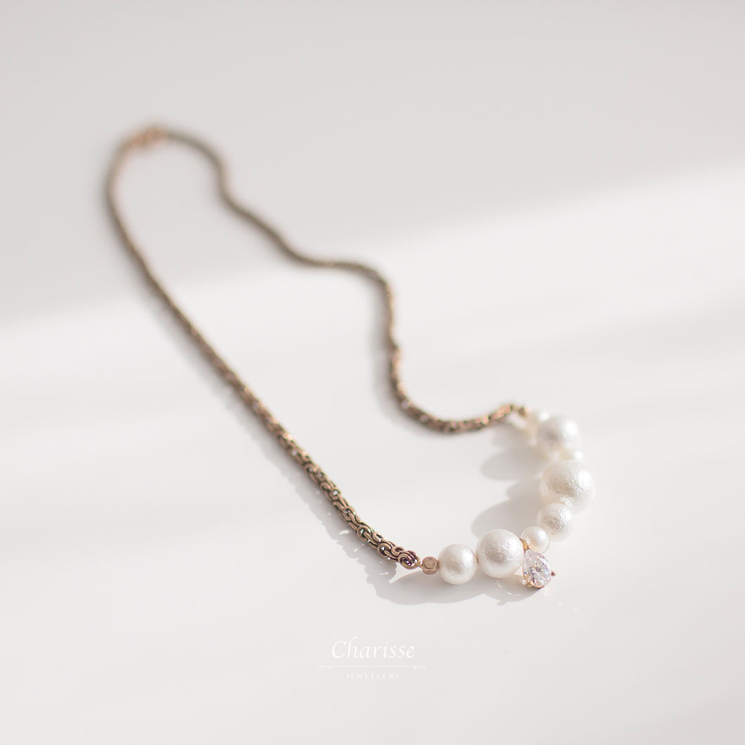 Cecilia Marshmallow Pearl Necklace