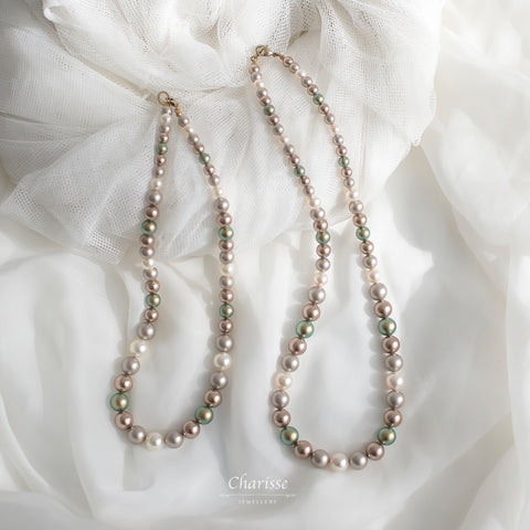 Jenna Swarovski Crystal Pearls Necklace