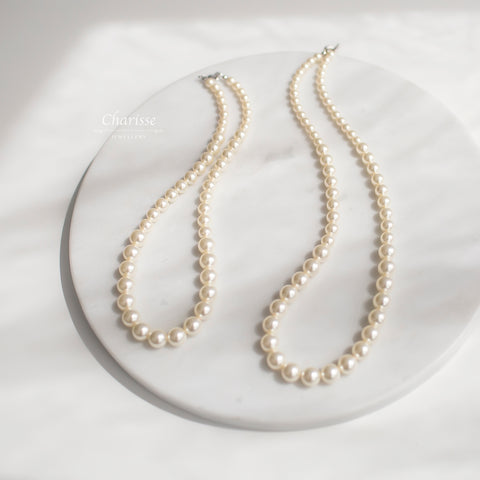 Cora Swarovski Crystal Pearl Necklace