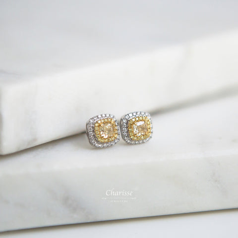 Tiffany Yellow Diamond Earrings
