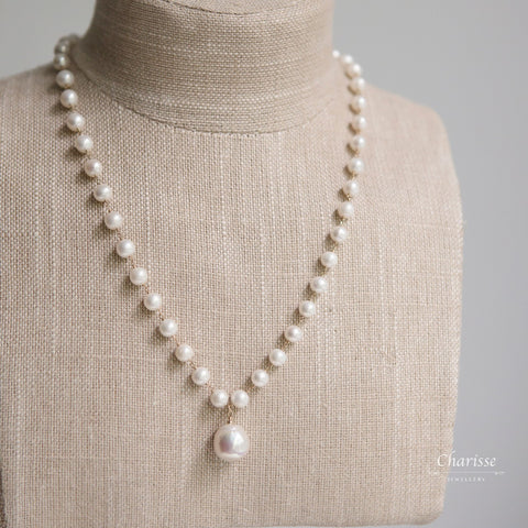 Charlotte Japanese Baroque Pearl Necklace