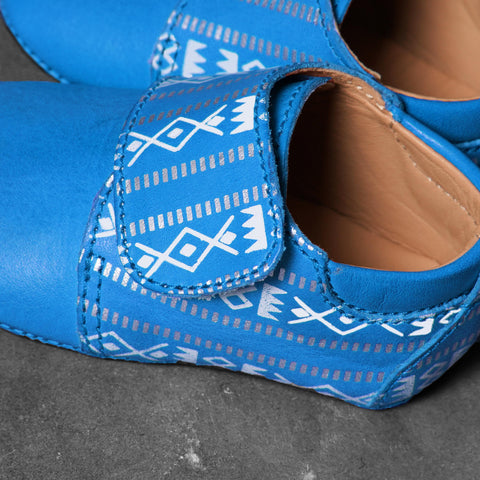 Bright Blue Sadu Shoe