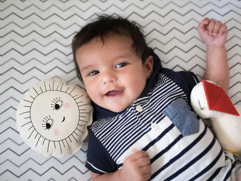 Happy Baby Ethan + Sun and Bird Rattle