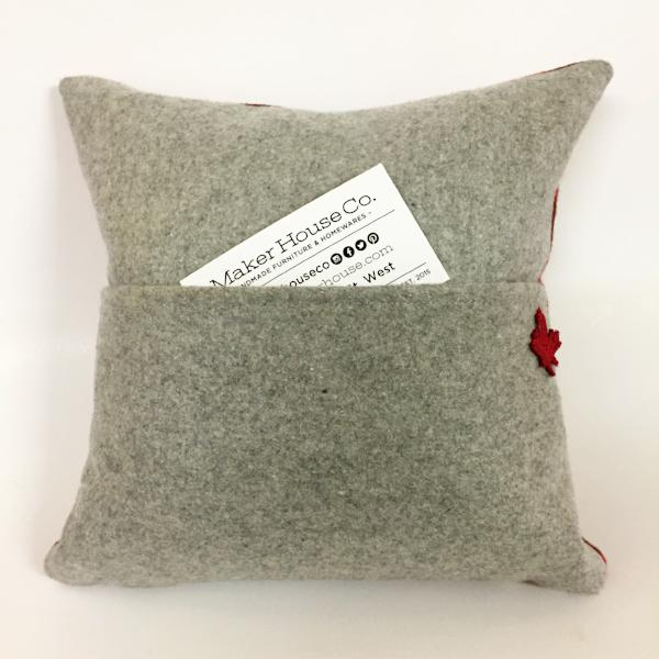 plaid pocket pillow by anizet designs at maker house co