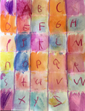 Alphabet Watercolor Art