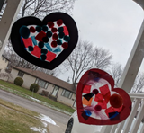 Valentine's Day Craft With Stained Glass Hearts