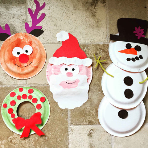Christmas Plate Ornaments With Kids