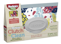 Huggies Natural Care Baby Wipes Clutch and Clean Carrying Case Solution