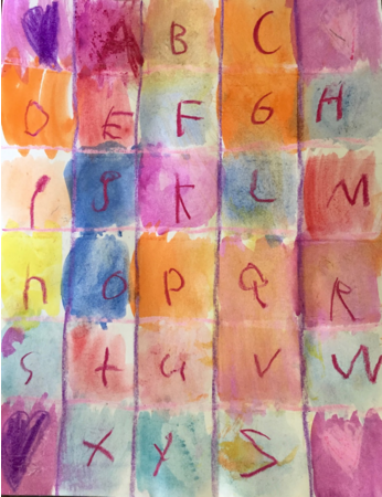 Alphabet Watercolor Art Project for Kids