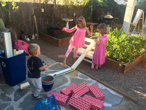 Family Playtime with DIY Ramps