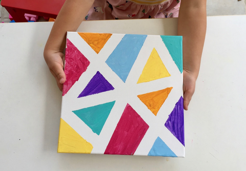 Kids Painting Activity Geometric Painting