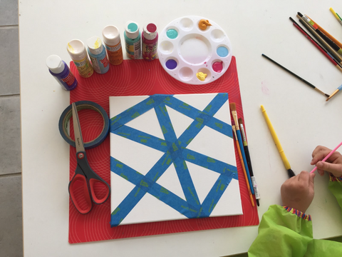 Geometric Painting with Children