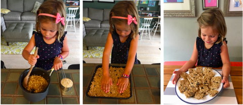 Making Homemade Granola Bar Kids Activity