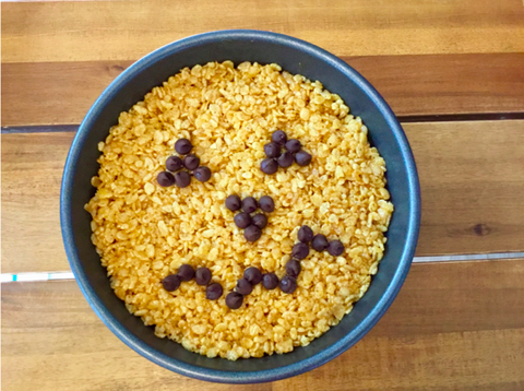 Pumpkin Rice Krispie Treat for Halloween