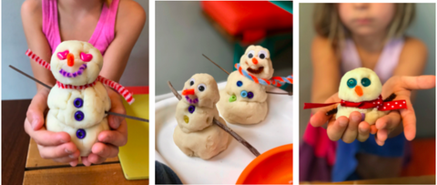 Play Dough Snowmen Kids Activity
