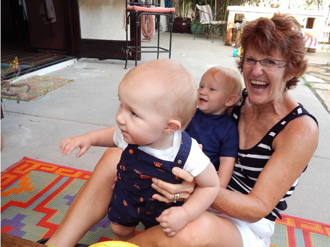 Grandma Playing with the Grandchildren