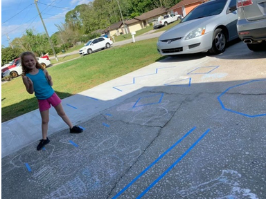 Chalk Obstacle Course for Children