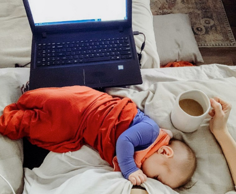Coffee, Baby and a Laptop
