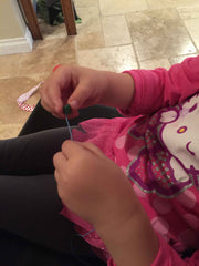 Threading Noodle Bracelet Kid Crafts