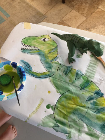 Dinosaur Painting for Kids