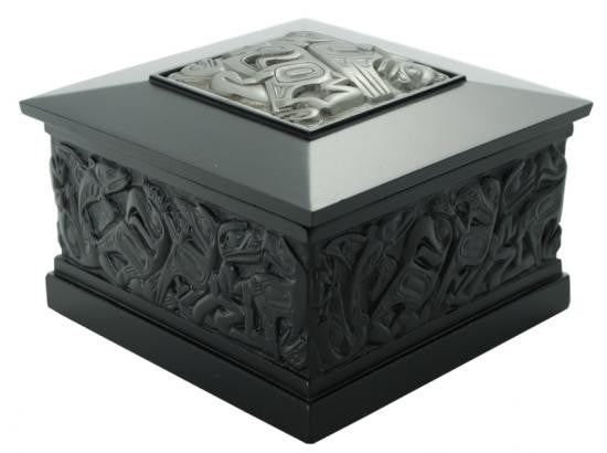 Desk Box-Panabo; Native Box w/ Puter Square Inset (Large)
