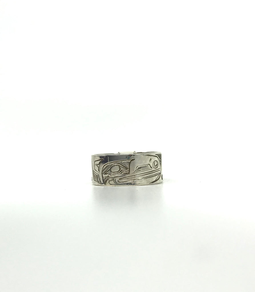 Ring- S. Sheakley: Silver, Raven, Band