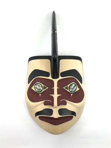 Mask- D. Horne: Killerwhale Portrait Mask w Abalone Inlay