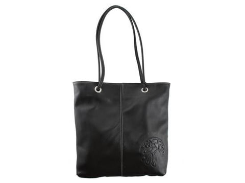 Bag- B. Helin, Leather, Black, Eagle or Raven