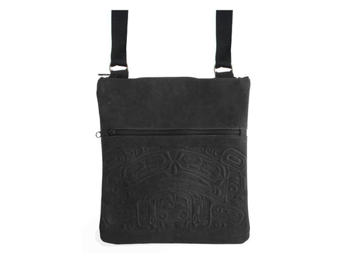 Bag Messenger- Bear Box, Leather, Black