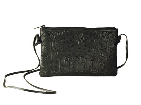Bag- Crossbody, C. Fred, Leather, Bear Box, Black