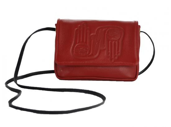 Embossed Leather Flap Bag by Dorothy Grant: Healing Hands