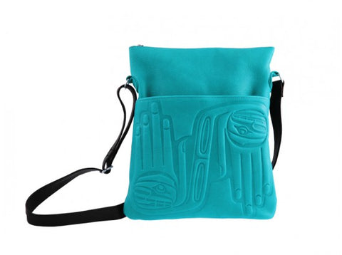 Bag- Solo, D. Grant, Leather, Healing Hands, Turquoise
