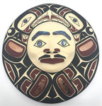 Mask- D. Horne: Moon, Carved, Painted, Abalone & Copper