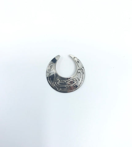 Nose Ring- F. Mooney: Silver Wolf