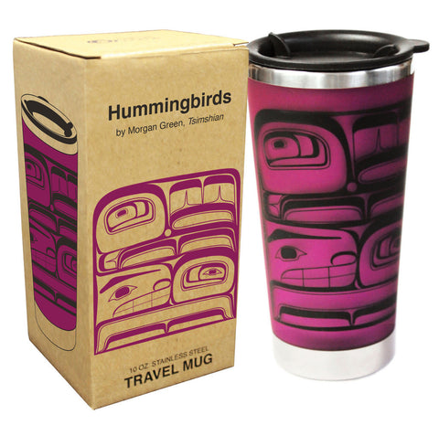 Mug- Hummingbirds by M. Green, Travel 10 oz.