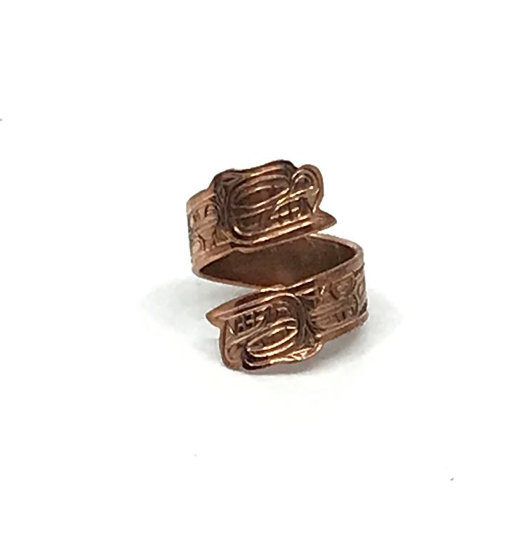 Ring- L. Chilton: Copper, Bear, Adjustable Wrap