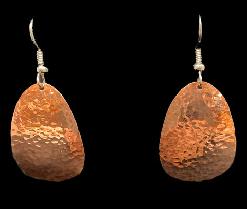 Earrings- B. Schleifman, Copper, Ovoid Squared, 1""