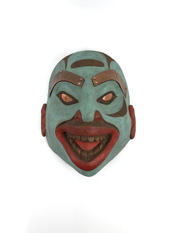 Mask- R. Gregory-Walker: Traditional Tlingit Style w Copper Inlays, SM
