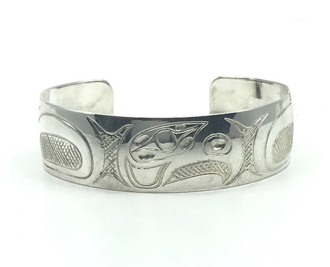 Bracelet- F. Mooney: Silver, Eagle, 3/4""